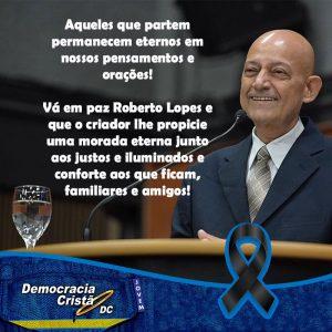 A Democracia Cristã Jovem está de Luto por Roberto Lopes.